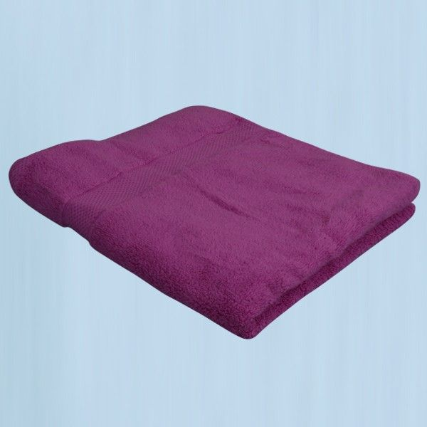 Sajalo Purple Bath Sheet (30x60 inch)
