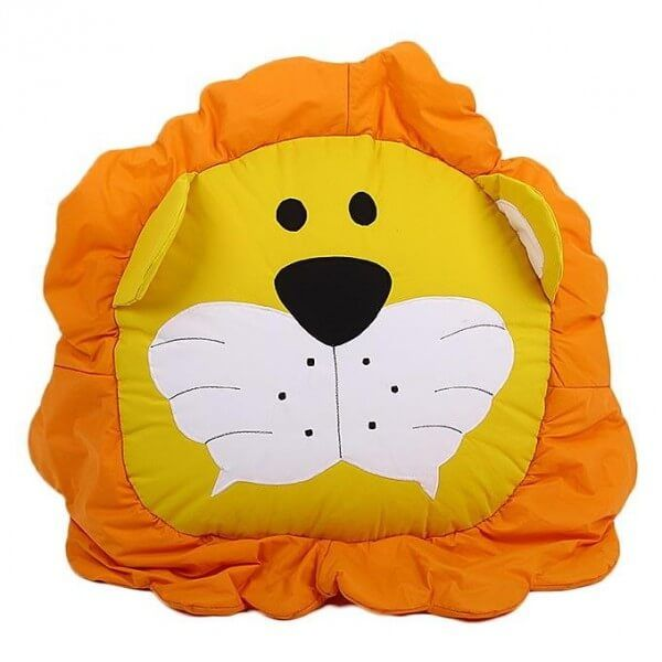 Bean Bag Kid Floor Cushion Lion - Yellow