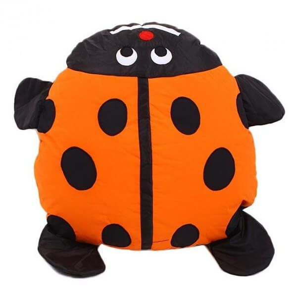 Bean Bag Kid Floor Cushion Beetle - Orange
