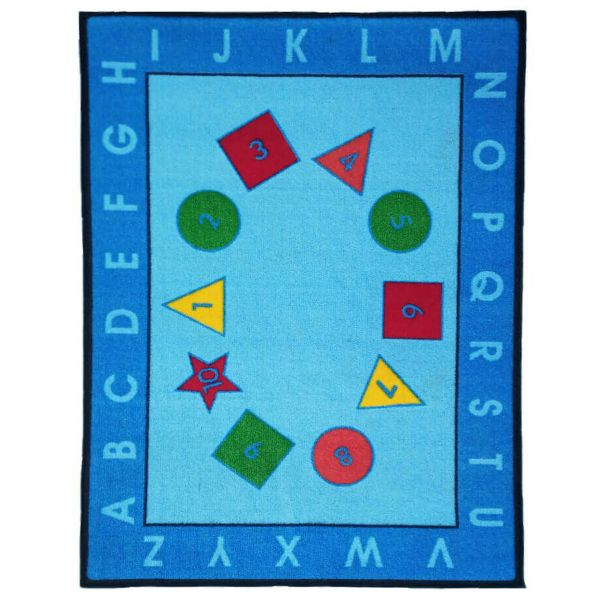 Sajalo Blue Educational Rug