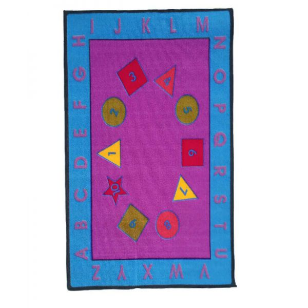 Sajalo Blue & Pink Educational Rug