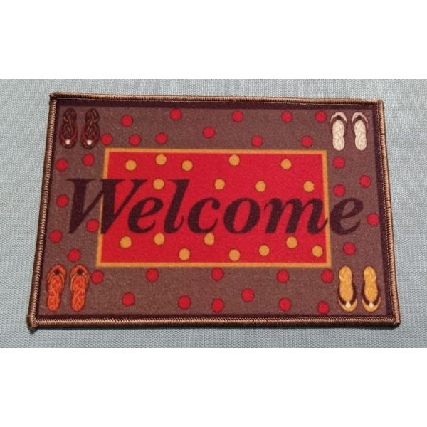 Red Well Come Door Mat 40x60