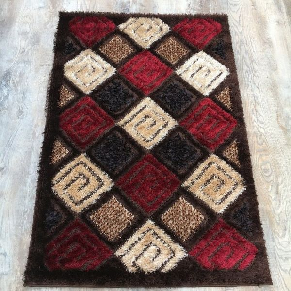 Multi Colore Shaggy Rug 3x5 ft