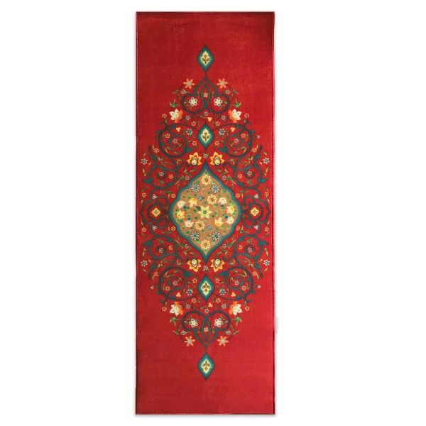 Sajalo Red Flower ECO Runner 2x6 ft