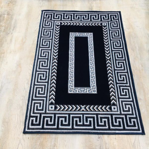 Excellent Navy Blue Rug 3x5 ft