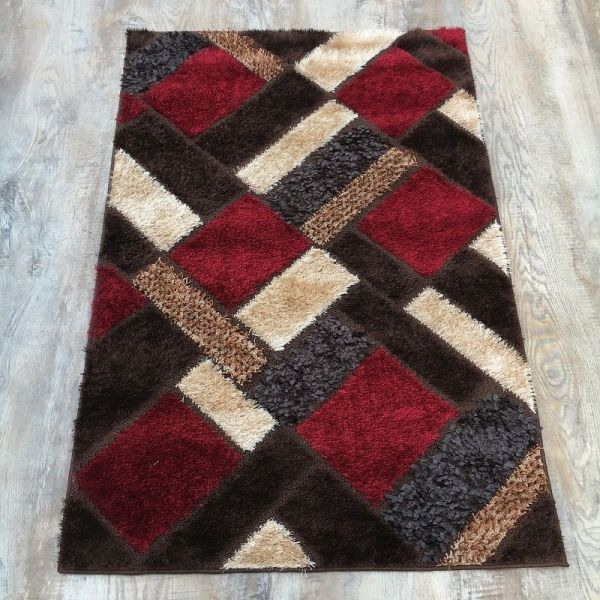 Red Shaggy Rug 3x5 ft