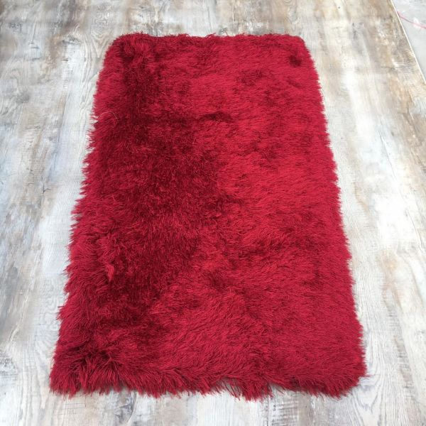 Red C-Shaggy Rug 2.5x5ft