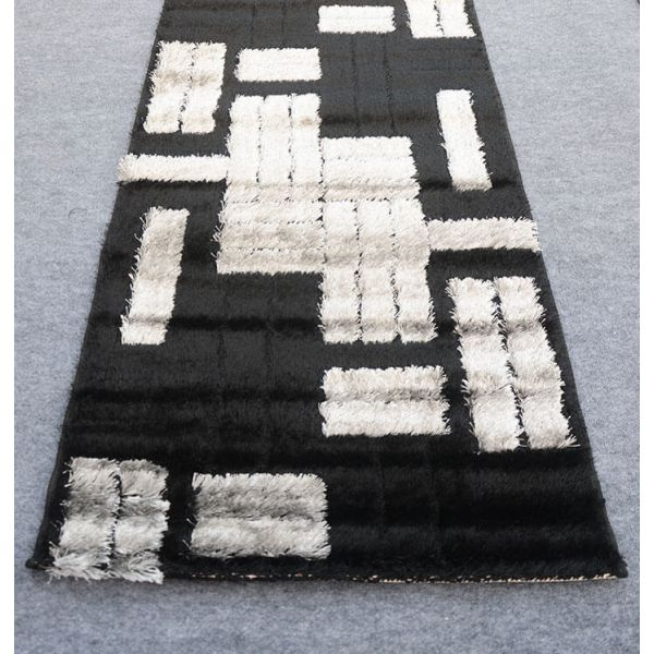 S.A Black Shaggy Runner 2.5x10 ft