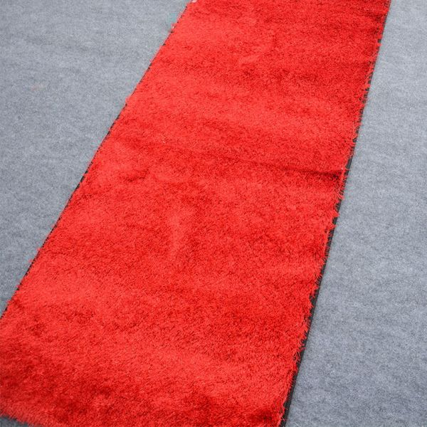 S.A Red Shaggy Runner 2.5x10 ft